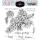 "Colorado Craft Company 6""x6"" Clear Stamps  - Pinecone & Branch-Big & Bold"