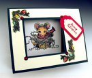 Impression Obsession Rubber Stamp - Christmas Lights Corner