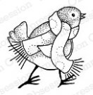 Impression Obsession Rubber Stamps - Bird with Scarf