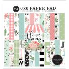 "Carta Bella 6""x6"" Double-Sided Paper Pad - Flower Garden (24 sheets)"