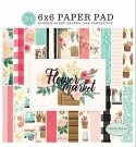 "Carta Bella 6""x6"" Paper Pad - Flower Market (24 sheets)"