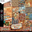 "Ciao Bella 12""x12"" Scrapbooking Creative Paper Pad - Collateral Rust (12 sheets)"