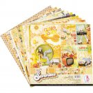 "Ciao Bella 12""x12"" Scrapbooking Creative Paper Pad - The Seventies (12 sheets)"