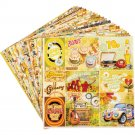 "Ciao Bella 6""x6"" Scrapbooking Creative Paper Pad - The Seventies (24 sheets)"