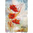 Ciao Bella A4 Rice Paper Sheet - Poppies' Dance