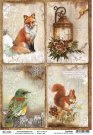 Ciao Bella A4 Rice Paper Sheet - The Sound Of Winter Cards