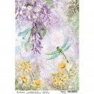 Ciao Bella A4 Rice Paper Sheet - Wisteria