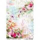 Ciao Bella A4 Rice Paper Sheet - Wildflowers & Bees