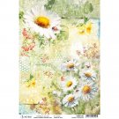 Ciao Bella A4 Rice Paper Sheet - Daisies & Ladybugs