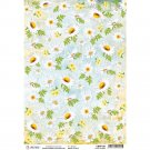 Ciao Bella A4 Rice Paper Sheet - White Daisies