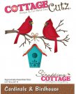 CottageCutz Dies - Cardinals & Birdhouse