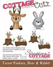 CottageCutz Dies - Forest Peekers Deer & Rabbit