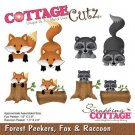 CottageCutz Dies - Forest Peekers Fox & Raccoon