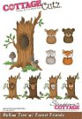 CottageCutz Dies - Hollow Tree with Forest Friends