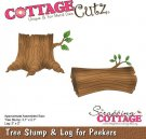CottageCutz Dies - Tree Stump & Log for Peekers