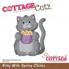 CottageCutz Dies - Kitty With Spring