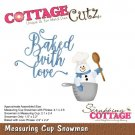 CottageCutz Dies - Measuring Cup Snowman