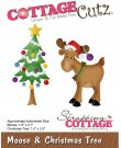 CottageCutz Dies - Moose & Christmas Tree