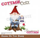 CottageCutz Dies - Gnome On Tree Stump