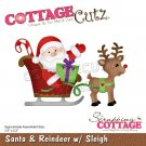 CottageCutz Dies - Santa & Reindeer with Sleigh