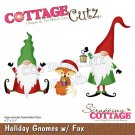 CottageCutz Dies - Holiday Gnomes with Fox