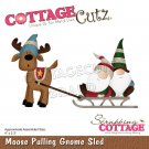 CottageCutz Dies - Moose Pulling Gnome Sled