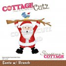 CottageCutz Dies - Santa with Branch