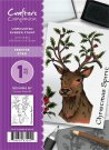 Crafters Companion A6 Unmounted Rubber Stamp Set - Festive Stag