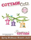 CottageCutz Dies - Spring Birdhouse Branch Made Easy