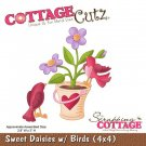 CottageCutz Dies - Sweet Daisies with Birds