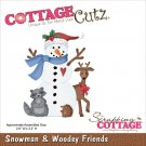 CottageCutz Dies - Snowman & Woodsy Friends