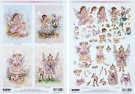 Paintbox Poppets Decoupage and Toppers - S26 (2 x A4 sheets)