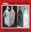 Crealies Create a Box Die Set - Box #14 Baby bottle