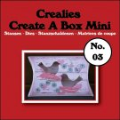 Crealies Create A Box Mini no. 03 Pillowbox