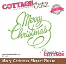 CottageCutz Dies - Merry Christmas Elegant Phrase