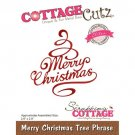 CottageCutz Dies - Merry Christmas Tree Phrase