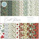 "Craft Consortium 12""x12"" Paper Pad - Festive Flora Essential Craft Papers (30 sheets)"