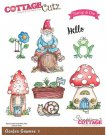 CottageCutz Stamp & Die Set - Garden Gnomes 1