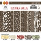 "Card Deco 6""x6"" Designer Sheets Paper Pad - Autumn Colours Chocolate Brown (12 sheets)"