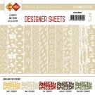 "Card Deco 6""x6"" Designer Sheets Paper Pad - Autumn Colours Light Brown (12 sheets)"