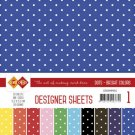 "Card Deco 6""x6"" Designer Sheets Mega Pack - #1 Bright Colors"