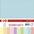 "Card Deco 6""x6"" Designer Sheets Mega Pack - #2 Pastels"