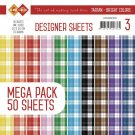 "Card Deco 6""x6"" Designer Sheets Mega Pack - #3 Tartan Bright Colors"