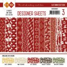 "Card Deco 6""x6"" Designer Sheets Paper Pad - Autumn Colours Red (12 sheets)"