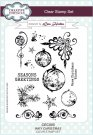 Creative Expressions A5 Clear Stamp Set - Inky Christmas