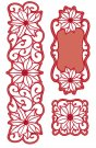 Creative Expressions Dies by Sue Wilson - Festive Collection Poinsettia Corner, Border & Tag (7 dies)