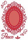 Creative Expressions Dies by Sue Wilson - Festive Collection Ornate Holly Framed Peace (9 dies)