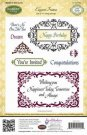 Justrite Cling Stamp Set - Elegant Frames (11 stamps)