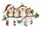 Wild Rose Studio Clear Stamp - Owls on Branch