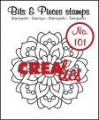 Crealies Clearstamp Bits&Pieces no. 101 Mandala A